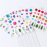 24 Sheets/Set Nail Sticker Flower Elegant Watermark Slider Sets Water Manicure Tips Nail Decals Nail Transfer Sticker Decoration Nail Art Accessory