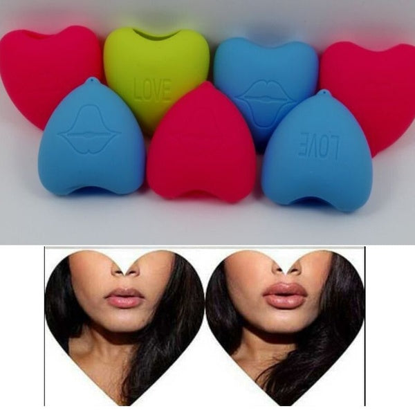 Women Healthy Love Heart Shape Lips Plumper Enhancer Soft Silicone Beauty Tool For Making Lip Fuller Device Portable 3 Colors DJK