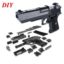 Load image into Gallery viewer, 2019 NEW Kids Toygun DIY Manual Rifle Toy Gun Blaster Bb Guns Gel Ball Creative DIY Building Blocks Toy Gun Desert Eagle