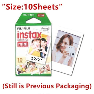 Hot Original Fujifilm Instax Mini Film 8 7s 25 50s 90 Polaroids 300 Instant White Edge Photo Paper Fuji Film Camera (White)