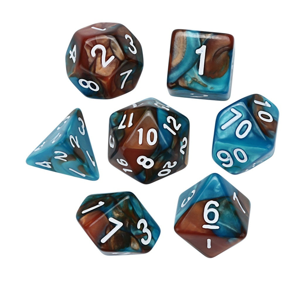 7Pcs Game Dungeons & Dragons Polyhedral D4-D20 Multi Sided Acrylic Dice