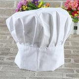 Cooking Cap Uniform White Baker BBQ Chef Hat Grilling Cook