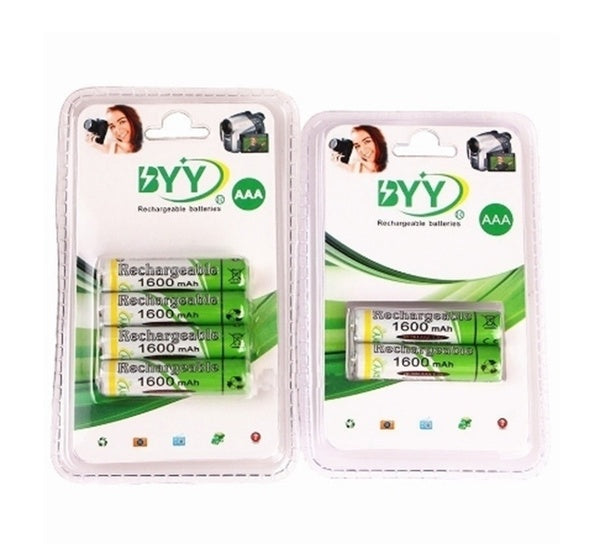 2PC/4PC 1600mAh 1.2V AAA Rechargeable batteries NI-MH Rechargeable Battery For Toys gift NEW