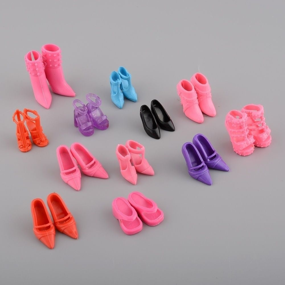 12 Pair/lot New Orignal Shoes For Doll High Quality Doll Accessories
