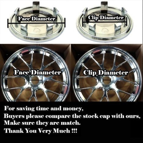 4 Pieces x 500 Logo 60mm Car Wheel Center Hub Caps for Fiat 500 500X 500L Abarth Grande Punto Bravo Doblo Panda Ducato Stilo etc.