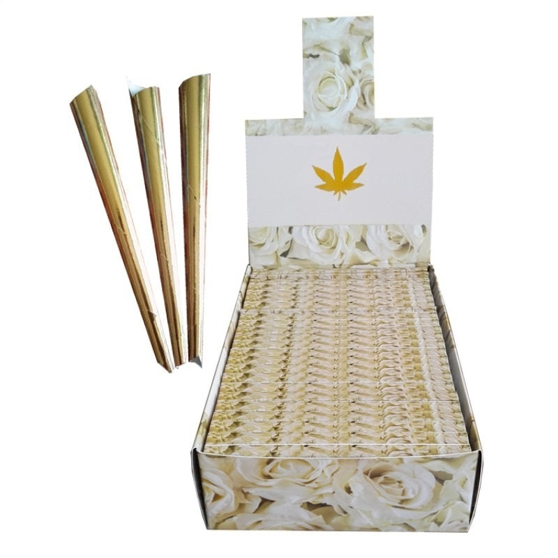 10Pcs/Box Gold Cigarette Rolling Paper  Smoking Paper Tobacco Cigarette Accessories