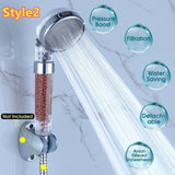 Handheld Water Saving Shower Head Bath Shower Nozzle Sprinkler Sprayer Filter Transparent (Style1/Style2)
