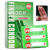 10pcs Hot Adult Sex Toys Mint Cold G Spot Stimulation  Medical Finger Sleeve Aloe Vera Latex Condom Sex Products