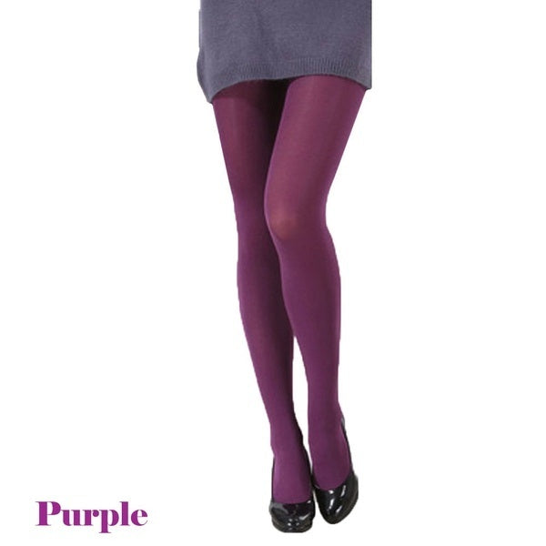 Autumn Burnish Opaque Tights Candy Color Leggings Tights Trample Valentines Day Gift