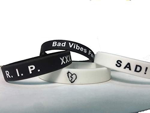 1pcs Xxxtentacion Wristbands Silicone Wristband for Men and Women