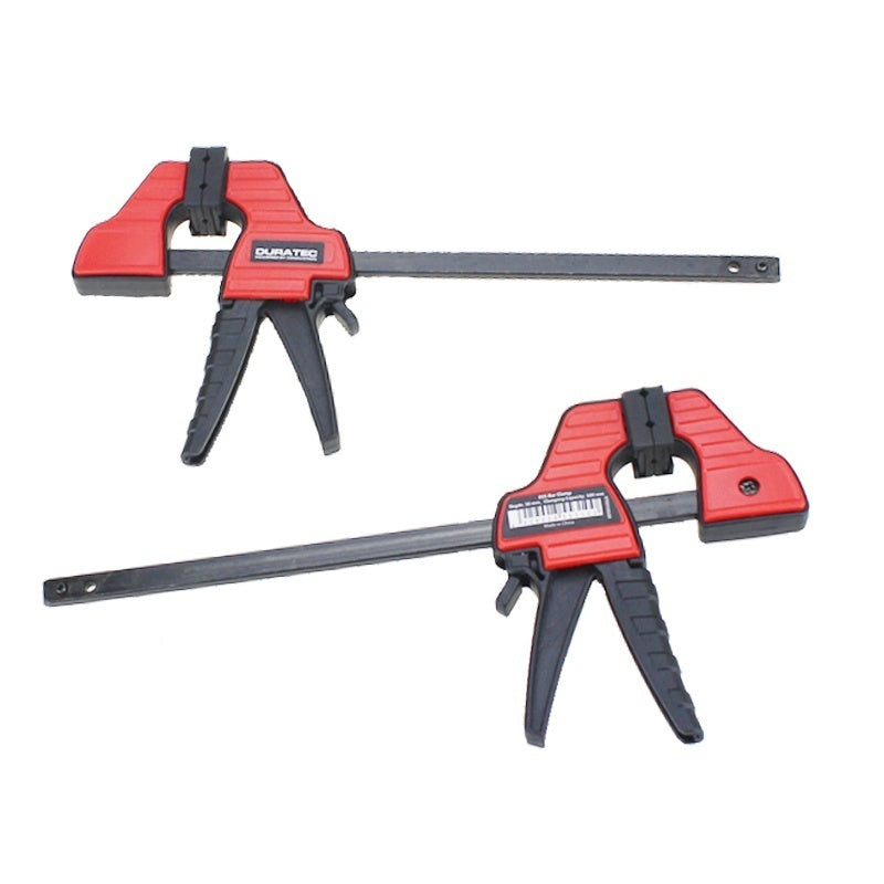 4 Inch Carpenter Tool Woodworking Clip F Style Wood Clamp Plastic Grip Ratchet Release DIY Hand Tool