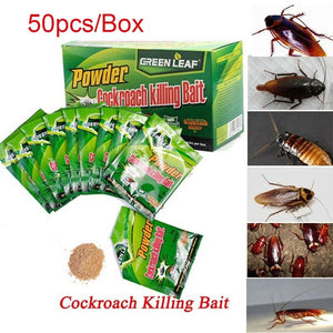 50PCS Effective Powder Cockroach Killing Bait Roach Killer Pesticide Insecticide Cockroach Killing Bait Roach Bug Killer