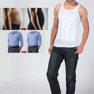 Men's Fashion Summer Shapewear Compression Undershirts Waist Control Corset Body Sculpting Vest Tights Thin Chest Waist, 70D