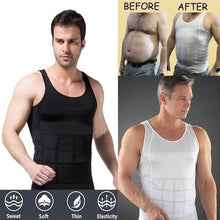 Load image into Gallery viewer, Men's Fashion Summer Shapewear Compression Undershirts Waist Control Corset Body Sculpting Vest Tights Thin Chest Waist, 70D