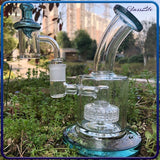 Mini Glass Water Pipe Recycler Dab Rig 4mm Quartz Banger Nail Bubbler