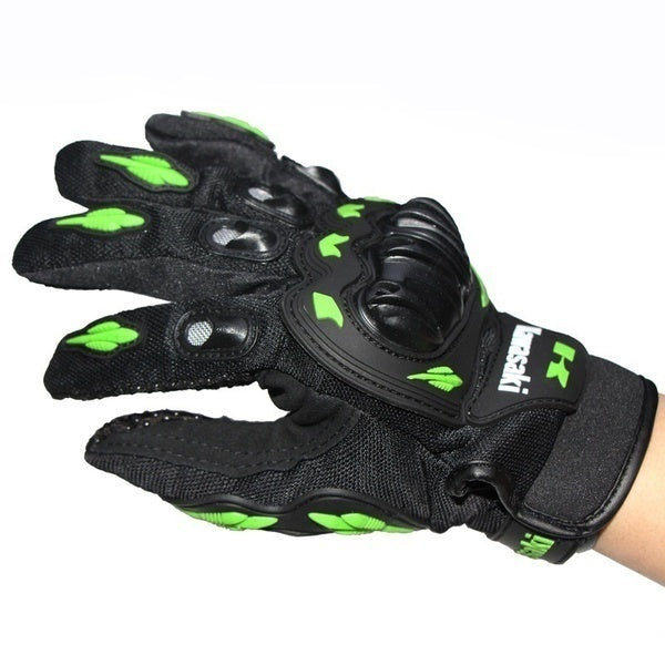 Professional Full Finger Guantes Motorcycle Gloves Motocross Guanti Moto For Kawasaki
