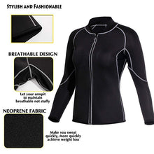 Load image into Gallery viewer, 1pc Women's Fashion Neoprene Sauna Tops Gym Hot Sweat Suit