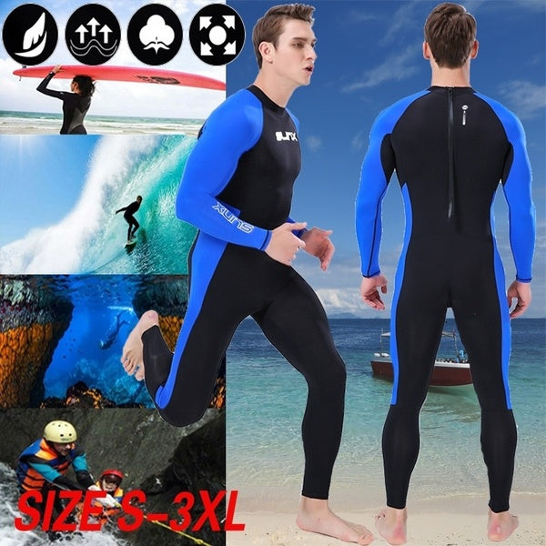 SLINX High Quality Sunblock Neoprene Wetsuit for Scuba Diving Surfing Swimming Men Diving Suit Full Body Swimming Wet Suit SLINX1707