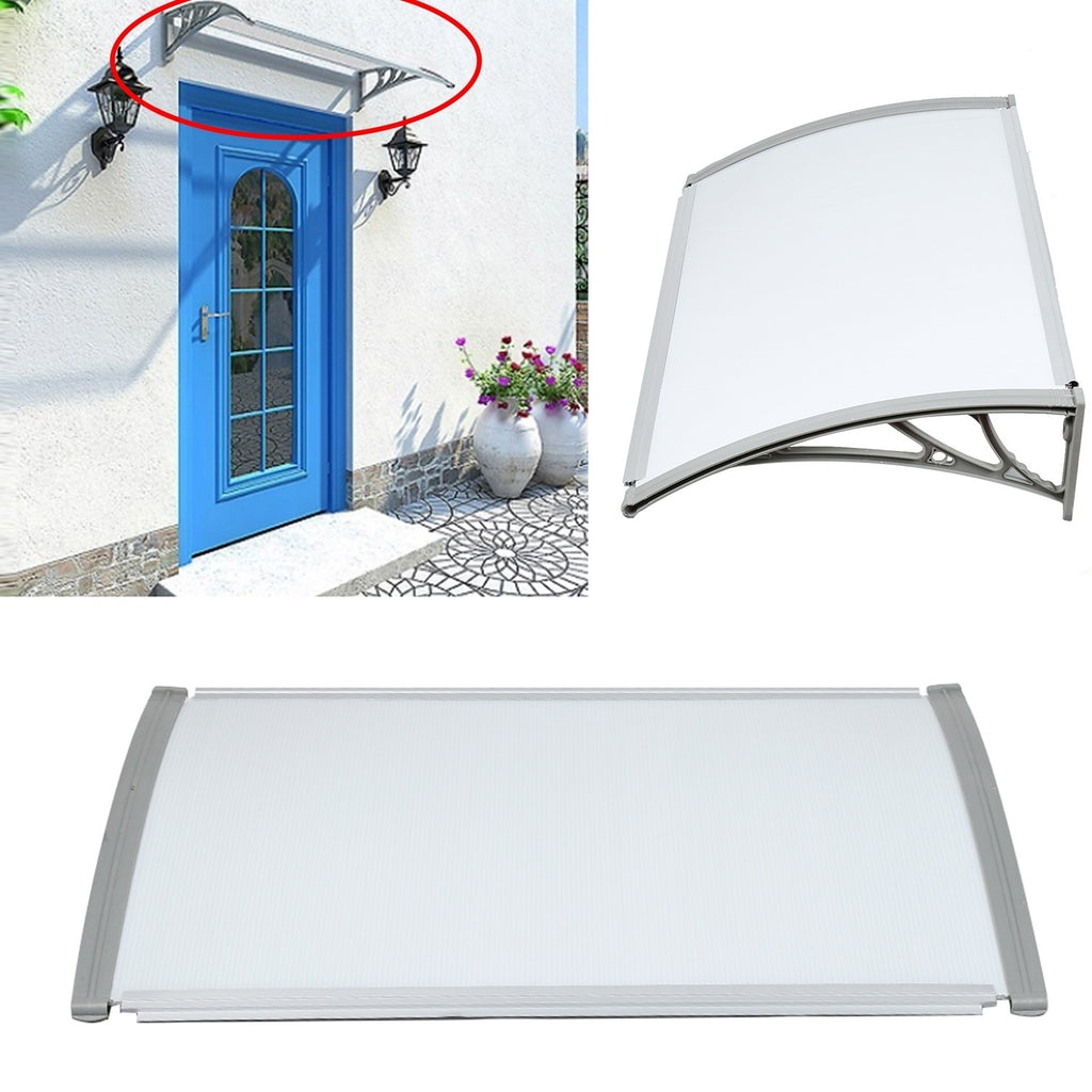 2019 Durable Door Canopy Awning Shelter Porch Front Rain Roof Back Patio Outdoor Shade Cover (7 sizes) FR