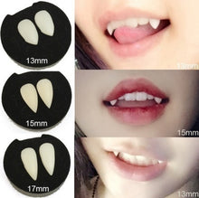 Load image into Gallery viewer, New Halloween Party Dentures Props Horrific Vampire Teeth Vampire Zombie Devil Fangs Teeth with Dental Gum
