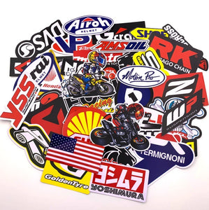 40Pcs Stickers Set Car Auto Biker Stickers for DIY Laptop Luggage Gifts