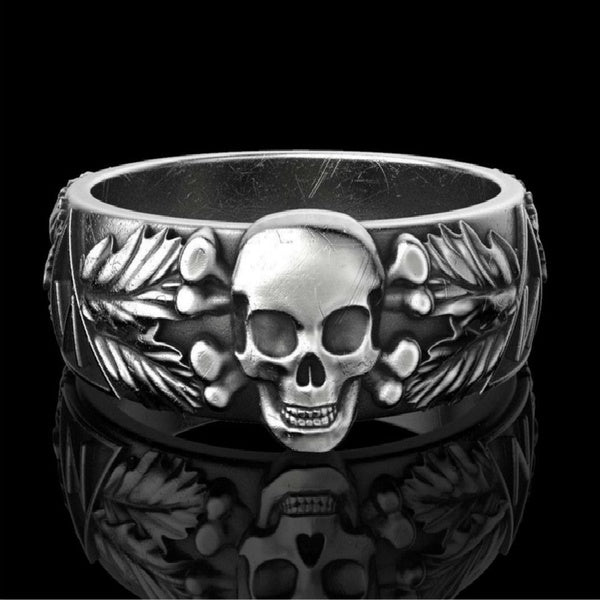 Vintage 316L Stainless Steel Skull Ring Gothic Domineering Punk Ring Jewelry