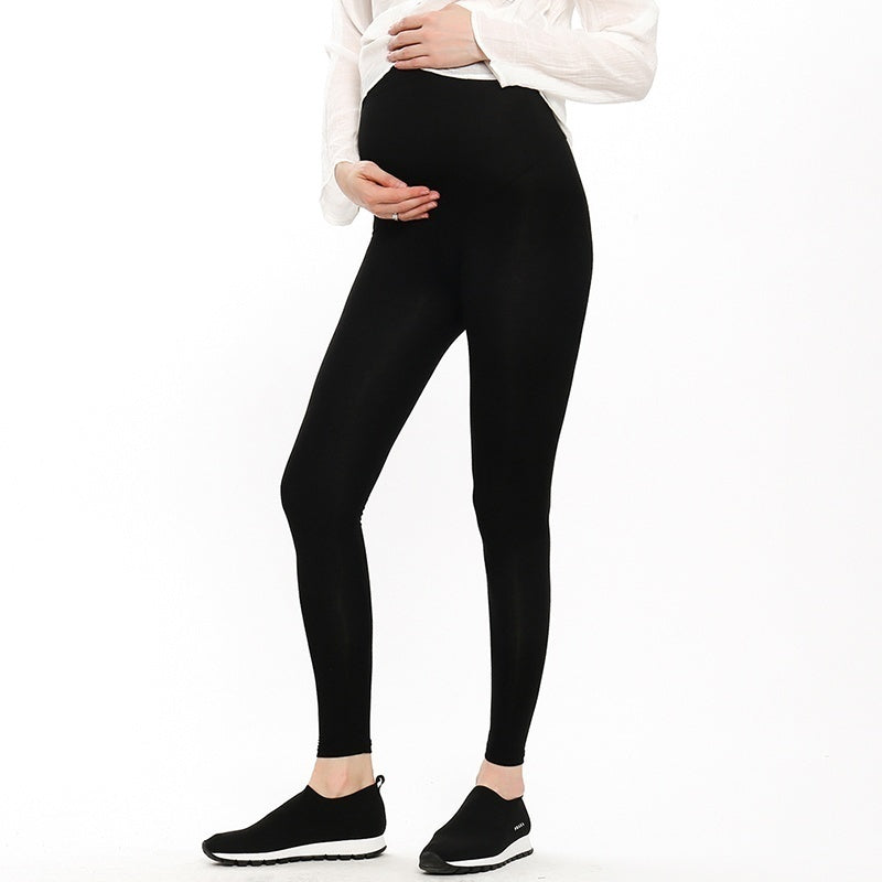 Maternity Pants Spring and Summer Thin Stomach Lift Pants Modal Fashion Mother Pregnant Women Leggings