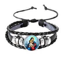 Load image into Gallery viewer, Jesus Christ Cabochon Bracelet - Christian Jewelry - Religious Charm Adjustable Bracelet
