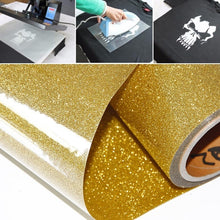 Load image into Gallery viewer, A4 (210 ¡Á 297mm) DIY T-shirt Heat Transfer Film Metal Lettering Film Heat Transfer Film Laser Plane Lettering Film High Light Lettering Film Thermal Transfer Vinyl
