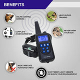 Pro Dog Training Collar, Rechargeable and Rainproof 800M LCD Electric Pet Dog Shock Collar with Beep Vibration and Shock Electronic Collar belt for 1-3 Dogs Trainer