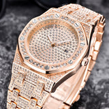 TOPGRILLZ Luxury Brand ICED OUT Quartz Watch Gold HIP HOP Wrist Watches With Micropave CZ Stainless Steel Wristband