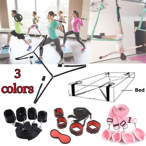 New Female Male Health Toys Yoga Fitness Bedding Can Bind Hands and Feet Sex Toys for Cuples (four Different Colors)