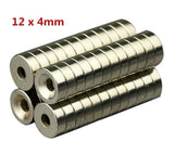 NEW 5/10/20PCS 12X4MM N35 Round Countersunk Ring Magnets Hole 4mm Rare Earth Neodymium Magnet Strong magnetic