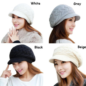 Hot Women Ladies Beret Winter Warm Baggy Beanie Knit Crochet Hat Slouch Ski Cap