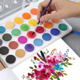 2019 New High Quality Solid Watercolor Cake Outdoor Paint Pigment Set 12/16/28/36 Colors Set Transparent Box Watercolor Painting Supplies