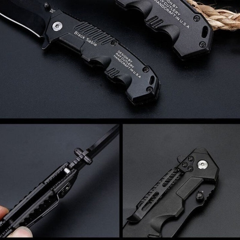 Mini Portable Pocket Camping Stainless Steel Self-defense Pratical Blade Tactical Tool Folding Knife