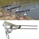 Automatic Double Spring Angle Pole Fish Pole Bracket Standard Fishing Rod Holder Fishing Gear