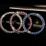 3 Colors Car Ring Sticker Crystal Rhinestone Auto Start Engine Ignition Key Bling for Car Interior Accessories