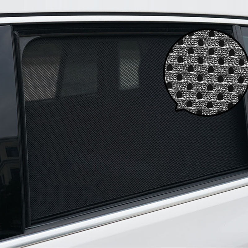 Magnetic Car Sun Shade UV Protection Semi-Transparent Sunshades Auto Curtain Window Sunshade Side Window Mesh Sun Visor