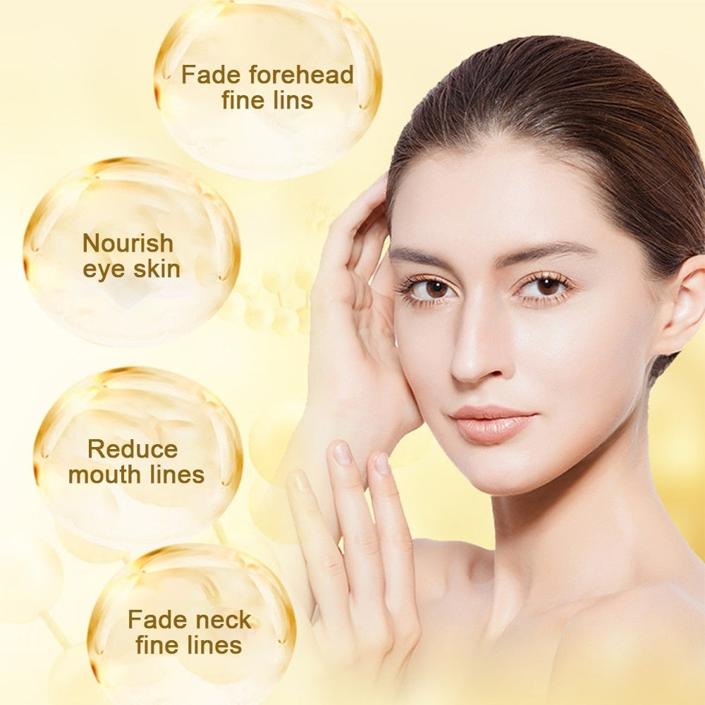 Gold Moisturizing Eye Mask Patch 60pcs=30pairs Crystal Collagen Eye Mask Ageless Sleep Mask Dark Circles Remover Face Care Mask