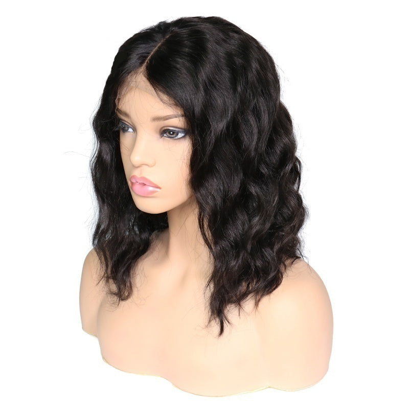 Black beauty Cute short hair roll Fashion Short Lace Human Ombre Hair Wigs Bob Wig For Cosplay Party