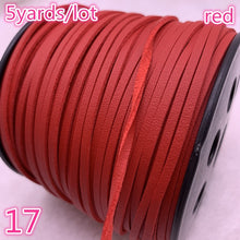 Load image into Gallery viewer, New 5yards/lot 3mm Flat Faux Suede Braided Cord Korean Velvet Leather Handmade Beading Bracelet Jewelry Making String Rope
