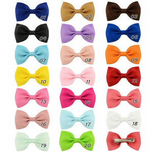 Solid Color Children's Hair Accessories Bow Hair Clips Cute Hair Clips Baby Hair Accessories