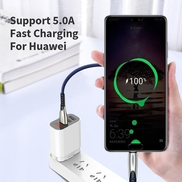 5A Fast Charging For Apple iPhone X Xs Max Xr 8 7 6 Plus 5 5s 5e USB Charger Cable   For Samsung Typec C Micro USB Charger Cord Cable For Xiaomi  Huawei