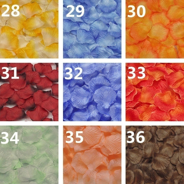 1000 Pieces/Lot Rose Petals Flower Petalas Artificiais Rose Petals Flowers Wedding Decoration Accessories