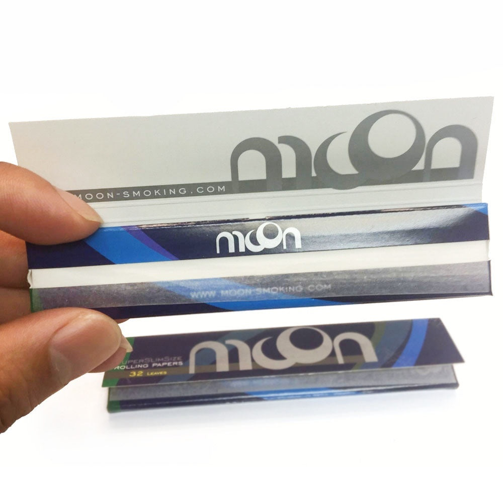 2019 New Moon Blue Rice Rolling Papers Super Slim Size 108*36mm 1920 leaves