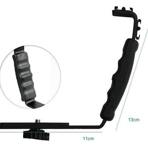 L-shaped flash bracket Holder video handle handheld stabilizer grip for DSLR SLR camera phone DV camcorder  LF01-054