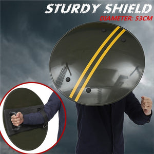 (Diameter: 53cm) Sturdy Shield Police Campus Security Protection Shield Round Hand-Held Shield