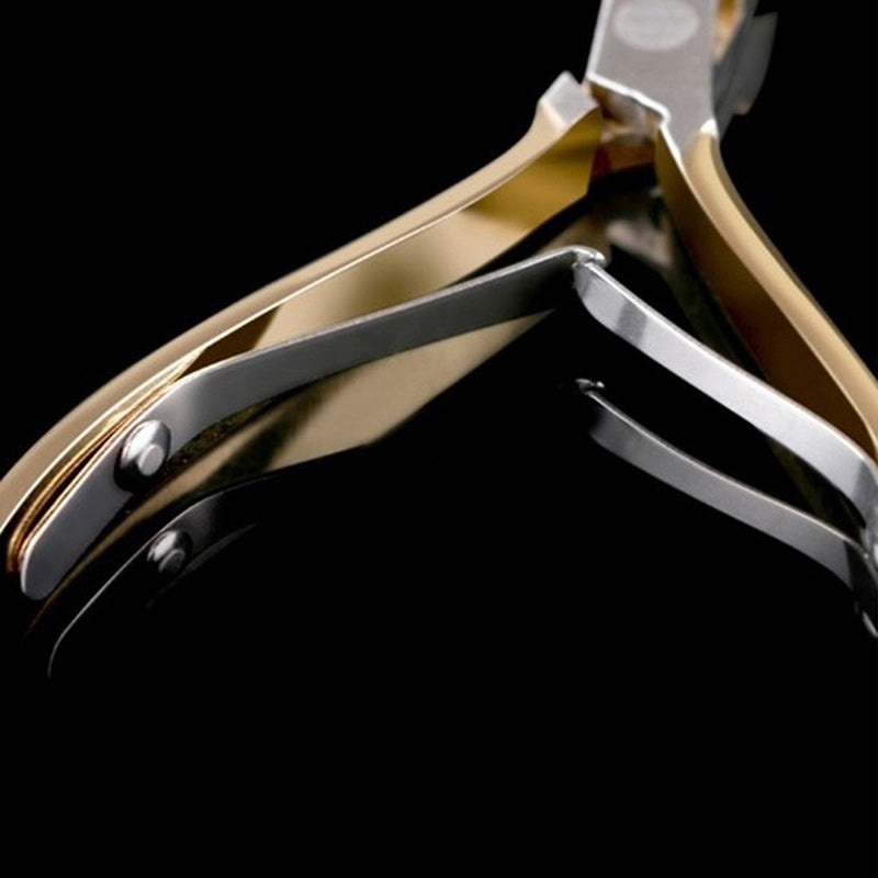 Professional Finger Toe Double Spring Oblique Metal Exfoliate Dead Skin Scissors