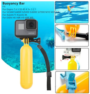 For Gopro Accessories Bobber Floating Floaty Handheld Stick tripod accessories For Go Pro Hero 7 6 5 4